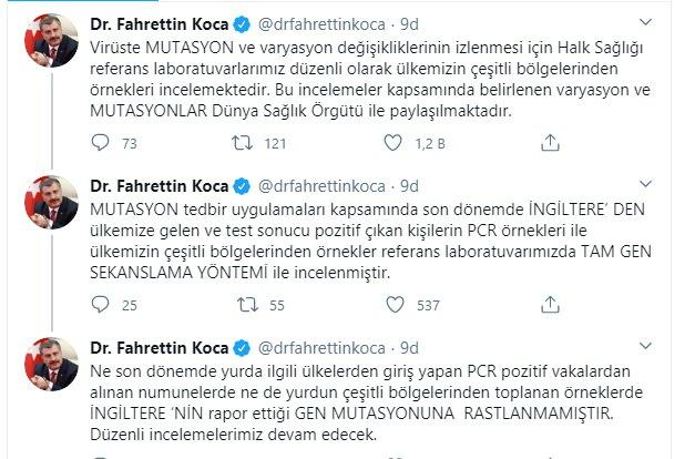Fahrettin Koca, Twitter