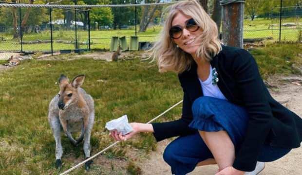 Oyuncu Zerrin Tekindor kendi elleriyle kanguru besledi!