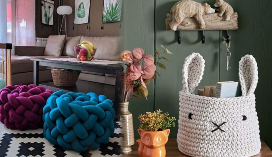 Evleriniz için tasarlanmış el örgüsü dekorasyon modelleri