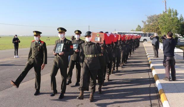 KKTC'de katledilen 14 şehit, 46 yıl sonra toprağa verildi