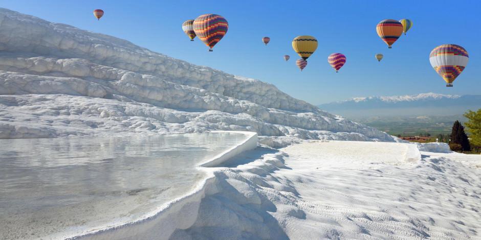 Pamukkale'de 4 günlük kısıtlamada balon turu yapılabilecek