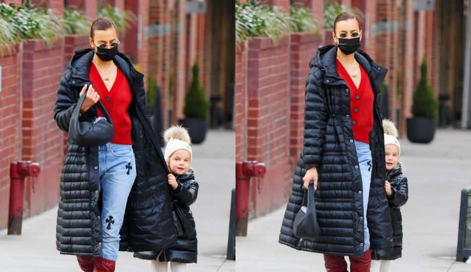 Ünlü Rus oyuncu Irina Shayk'ın kızıyla uyumlu alışveriş stili!
