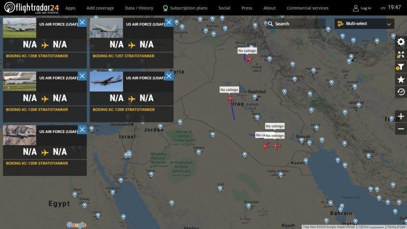 ABD'ye ait 5 tanker uçağın Irak üzerinde uçuşu
