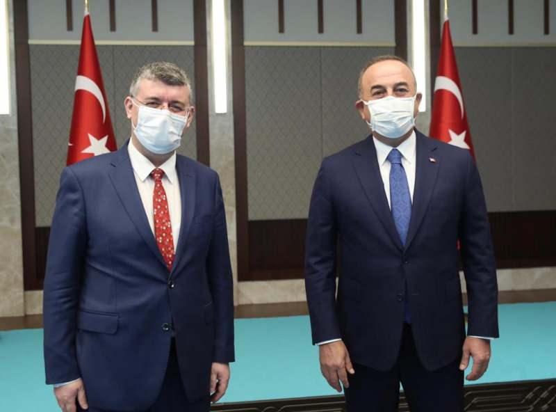 Kanal 7 Ankara Temsilcisi Mehmet Acet ve Çavuşoğlu