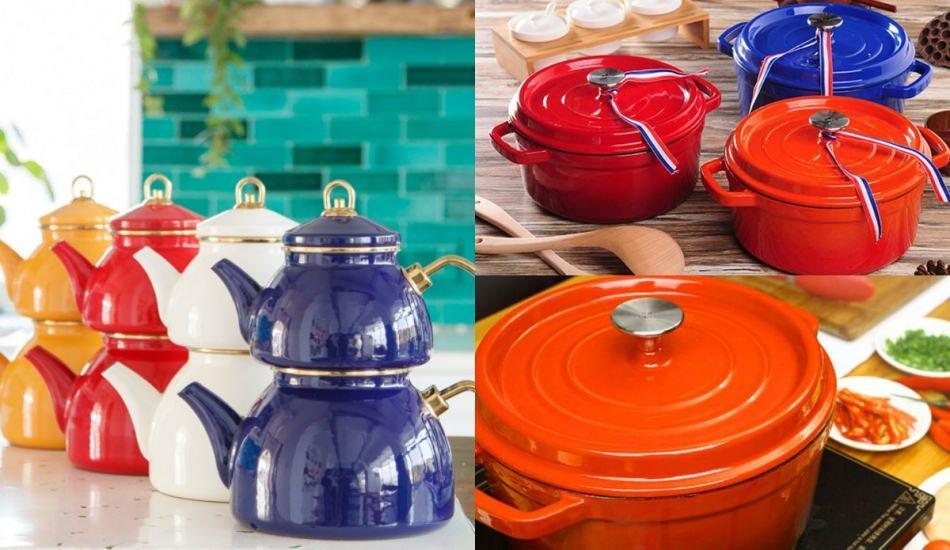 Mutfaklar için renkli emaye modelleri ve fiyatları
