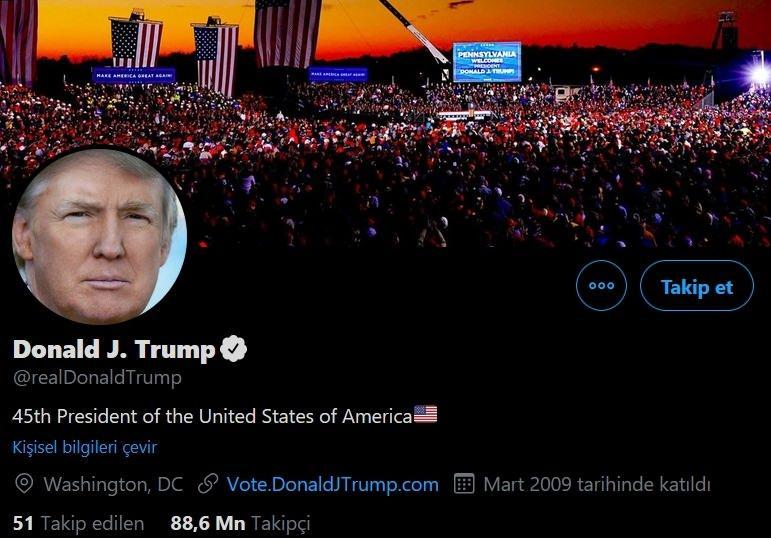 Trump , Twitter hesabı
