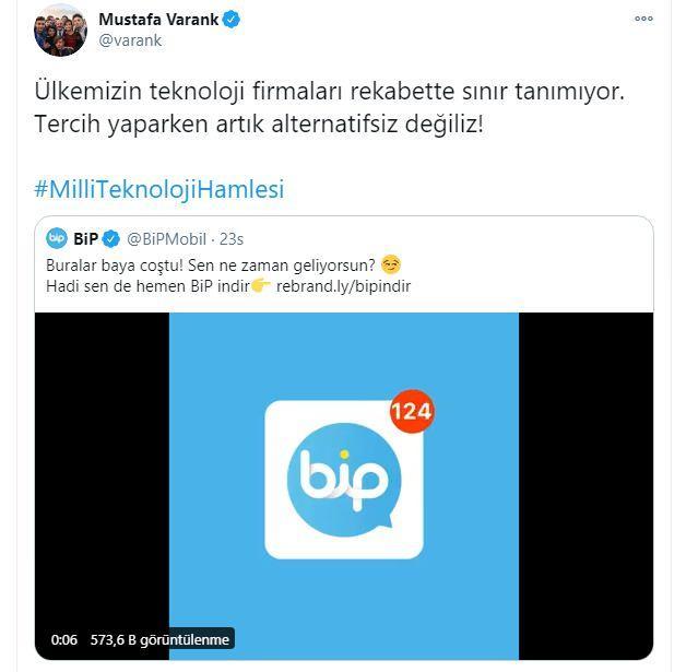 Mustafa Varank, Twitter, BİP