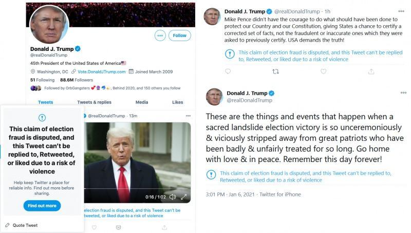 Twitter, Trump'a sansür uyguladı
