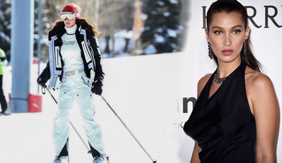Bella Hadid kış tatilinde! Bella hadid'in kayak stili