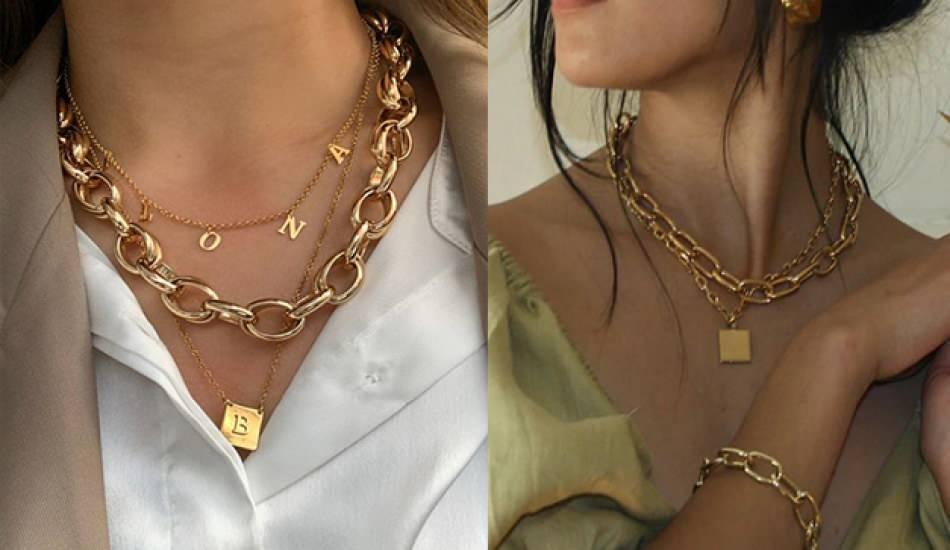 Doya Doya Moda'da yarışmacılara takılan altın kolye modelleri
