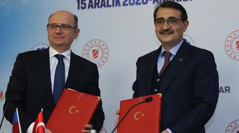Enerji ve Tabii Kaynaklar Bakanı Fatih Dönmez ile Azerbaycan Enerji Bakanı Perviz Şahbazov