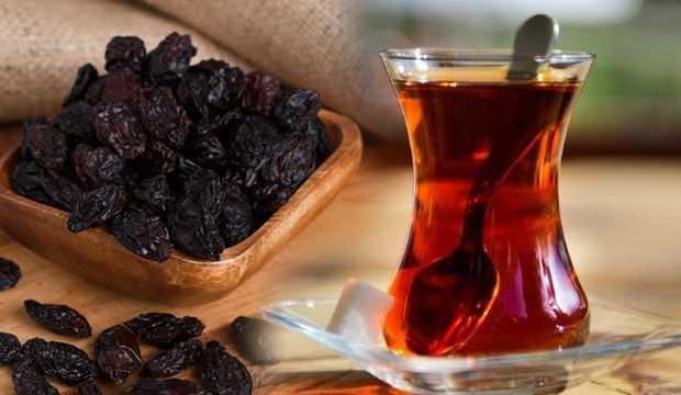 Kuru Üzümle Çay İçmek Faydalımı