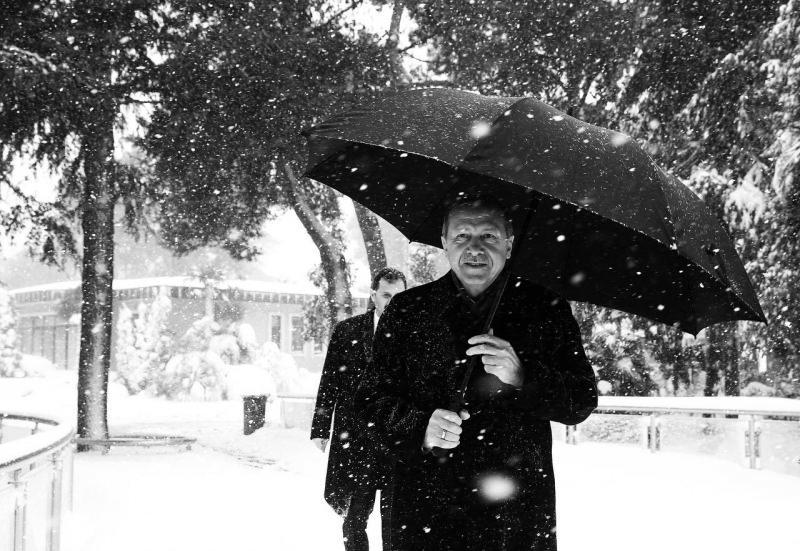 Cumhurbaşkanı Erdoğan'dan kar hatırası