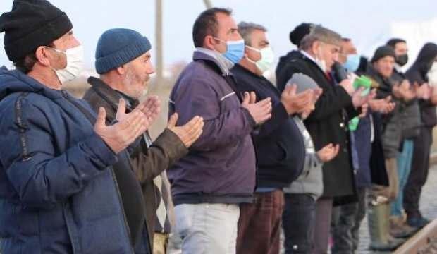 Erzurum'da köylülerden 'kar' duası