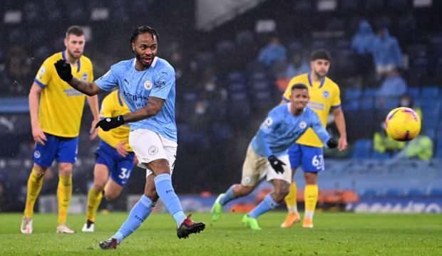 Manchester City, konuk ettiği Brighton'ı 1-0 mağlup etti