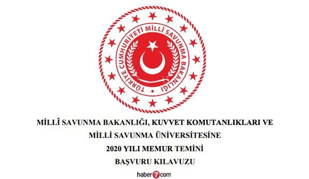 Milli Savunma Bakanlığı HKK, DKK ve KKK memur alım ilanı! Kadrolar ve başvuru şartları...