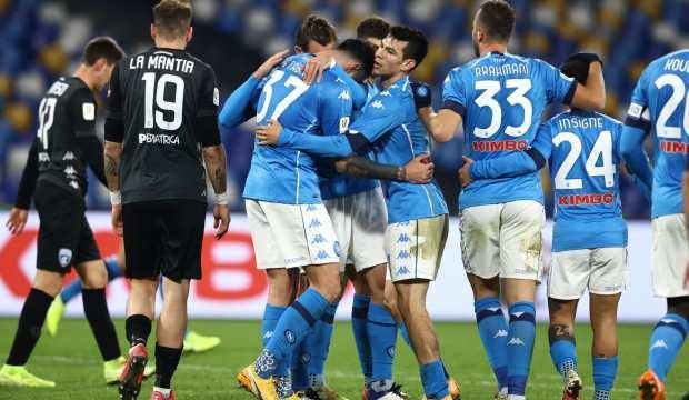 Napoli, İtalya kupasında çeyrek finalde