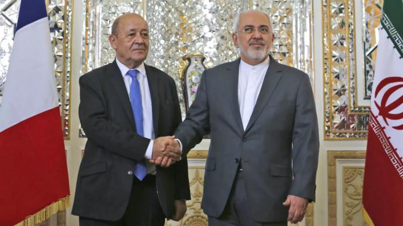 İran Dışişleri Bakanı Muhammed Cevad Zarif ve Fransa Dışişleri Bakanı Jean-Yves Le Drian