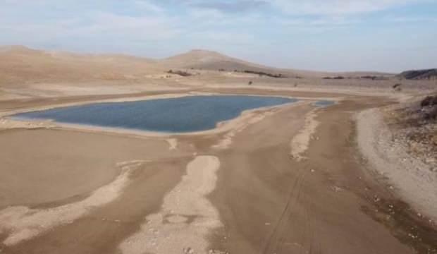 Sular çekilince kuraklığın boyutu ortaya çıktı