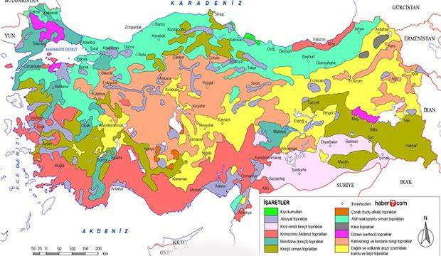 Türkiye Toprak Haritası! Zonal, Azonal, İntrazonal toprak çeşitleri nerelerde görülür?