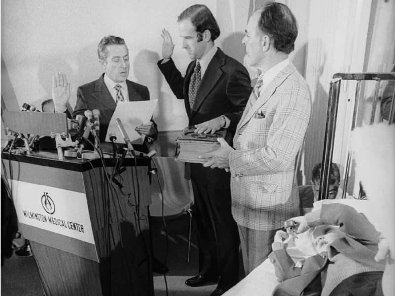 1973'te hastane odasında yemin töreni