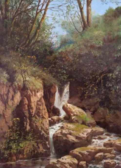 HOCA ALİ RIZA (1858-1930) - Şelale