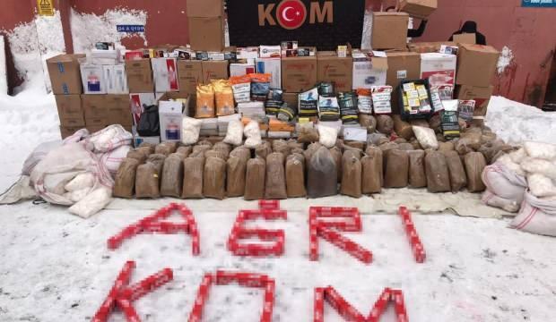 Ağrı'da 480 kilogram kaçak tütün ele geçirildi