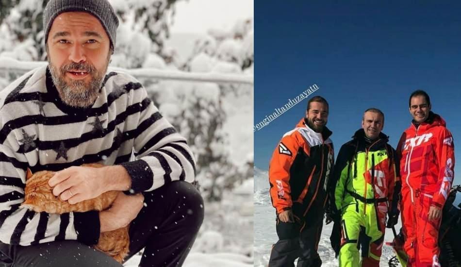 Engin Altan Düzyatan ailesi ve arkadaşlarıyla kış tatiline çıktı!