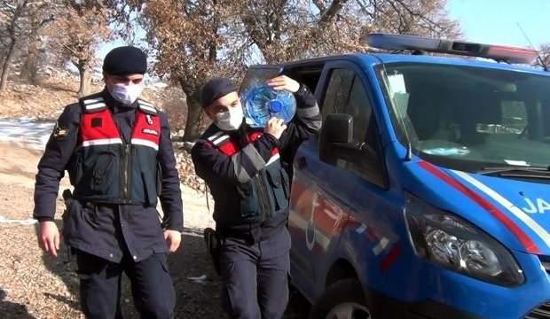 Jandarma ekipleri yaşlılara destek oluyor