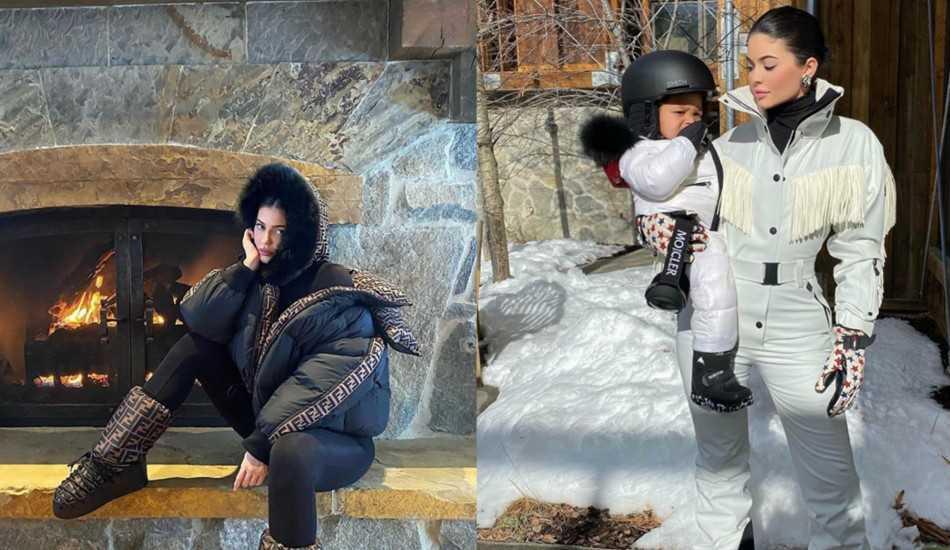 Kış modasının kraliçesi Kylie Jenner'ın en iyi kış kombinleri