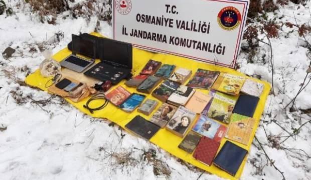 Osmaniye'de, PKK sığınağında patlayıcı ve örgütsel doküman ele geçti