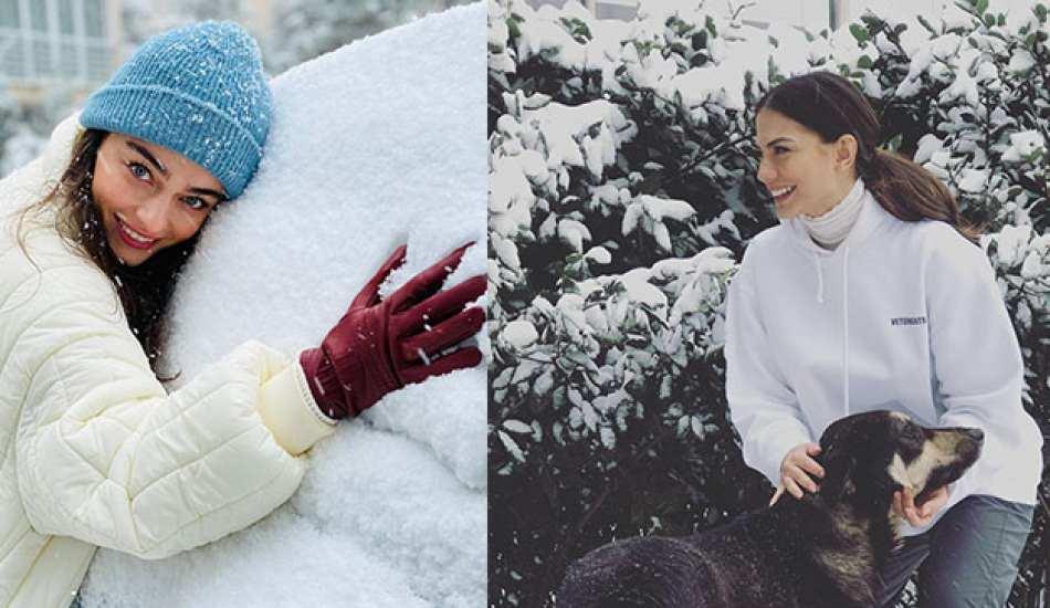 Ünlülerden kar manzaralı fotoğraf paylaşımları