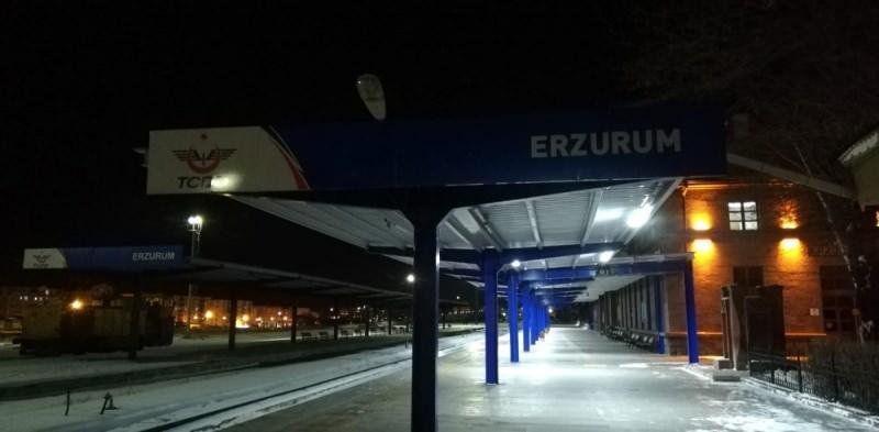 Rusya ve Çin'e gidecek ihracat trenleri Erzurum'a ulaştı