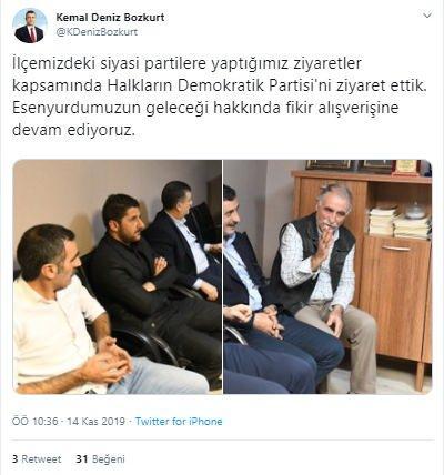 CHP'li Esenyurt Belediye Başkanı Kemal Deniz Bozkurt