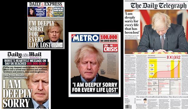 Boris Johnson'ın sözleri İngiliz gazetelerinde manşet oldu