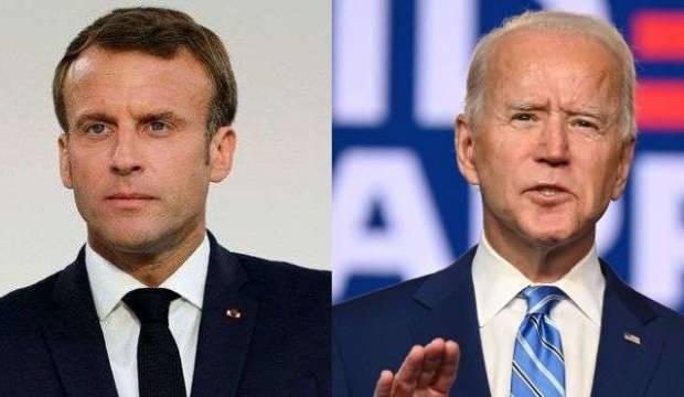 ABD Başkanı Biden, Fransa Cumhurbaşkanı Macron ile telefonda görüştü