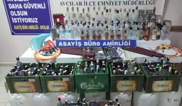 Avcılar'da 100 litre sahte içki ele geçirildi