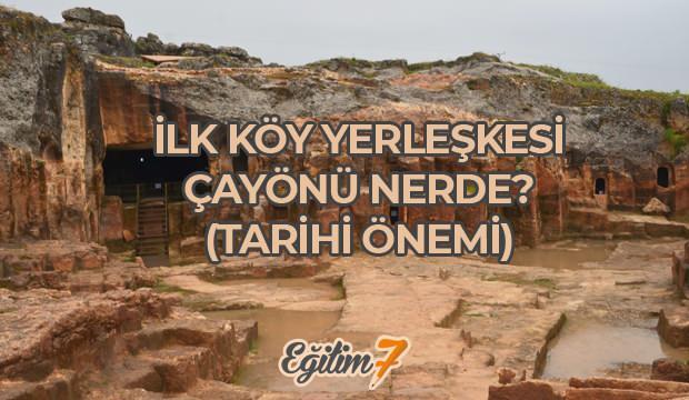 İlk köy yerleşimi Çayönü nerededir? Çayönü tarihi önemi...