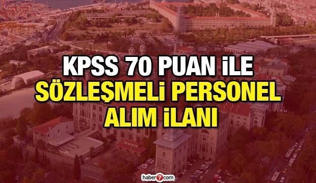 KPSS 70 puan ile sözleşmeli personel alım ilanı! Başvuru şartları neler?