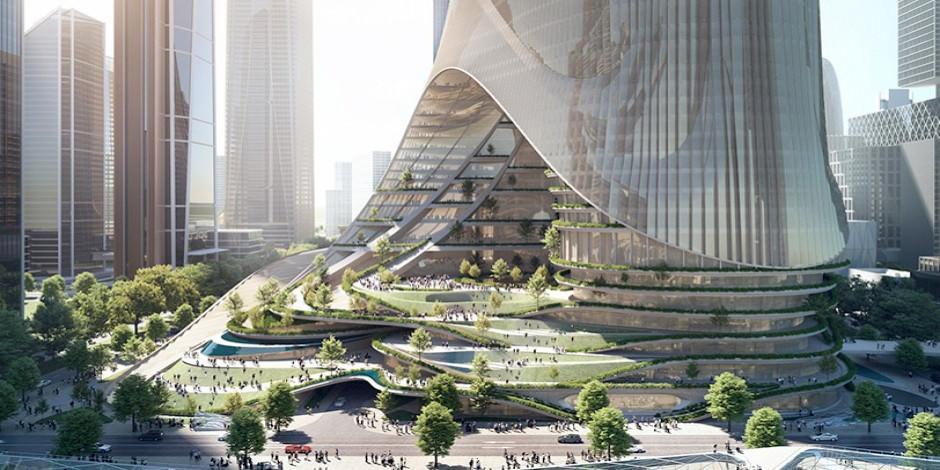 Shenzhen'deki ultra fütürist kule 300 bin kişiye ev sahipliği yapacak