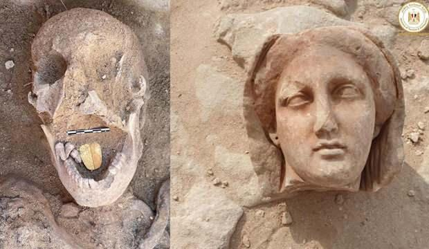 Mısır'da altın dilli mumya keşfedildi