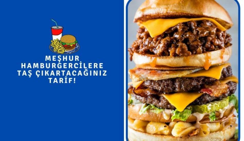 Obur hamburger nedir ve içerisinde ne var? Obur hamburger evde yapılışı