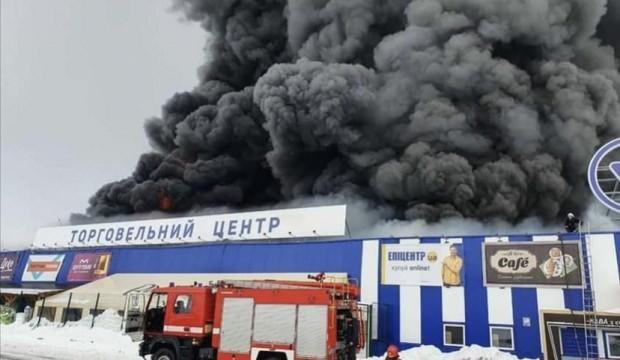 Ukrayna'nın en büyük toptancı mağazasında yangın