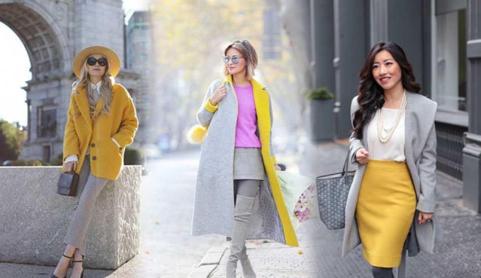 2021 yılının rengi gri ve sarı nasıl kombinlenir?