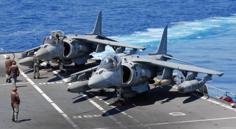 AV-8B Harrier II, ABD uçak gemisinde