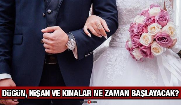 Düğün salonları ne zaman açılacak? Düğün, kına ve nişan törenleri Mart ayında olacak mı?