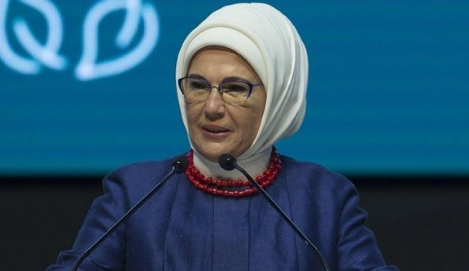 Emine Erdoğan'dan iklim değişikliği ile mücadele toplantısında çağrı!