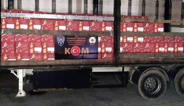Mardin'de 5 milyon TL değerinde kaçak içki ele geçirildi