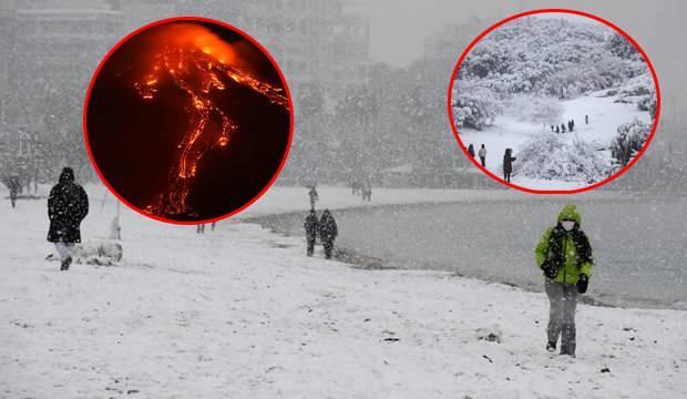 Kar yağışı Türkiye'yi çok fena vurdu! ABD'de de onlarca ölü var