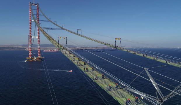 1915 Çanakkale Köprüsü ana kablolarının montajı başladı